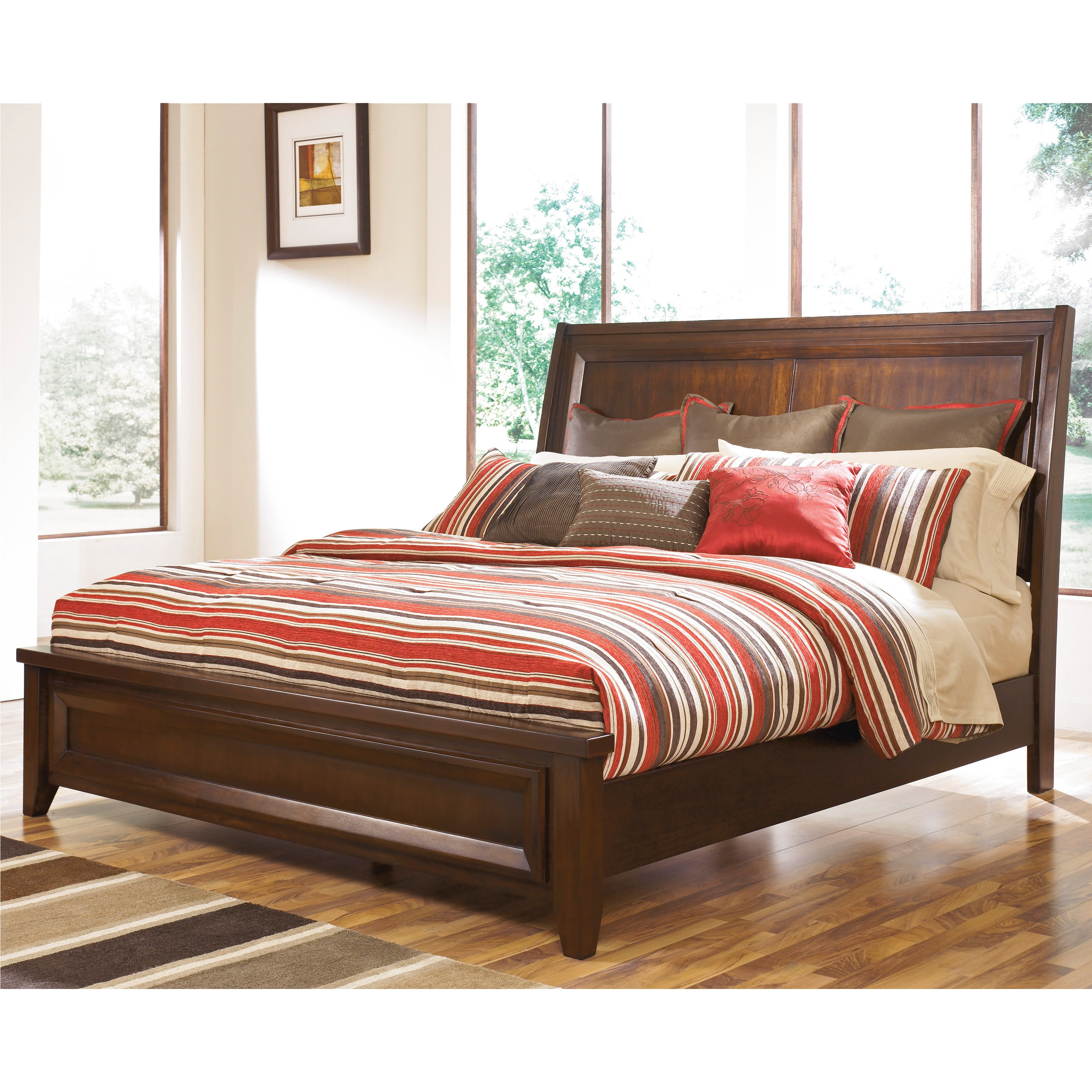 Ashley Holloway Brown King Size Bed
