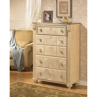 Signature Designs by Ashley 'Saveaha' Light Beige 5-drawer Chest