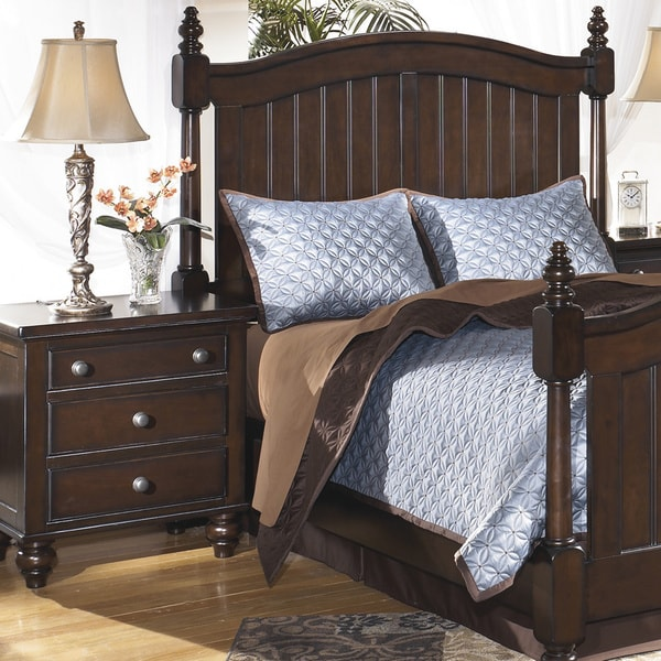 signature designs by ashley camdyn dark brown 3 drawer nightstand