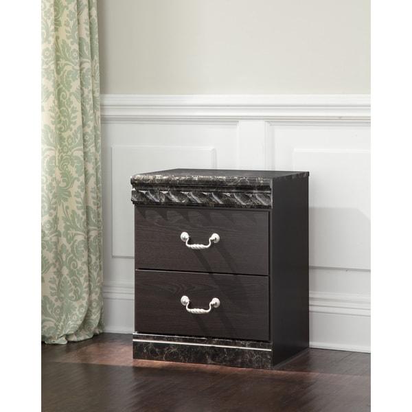 Vachel Dark Brown 2-drawer Nightstand