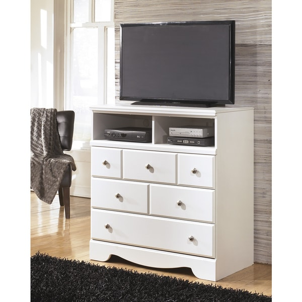 Ashley Furniture Discount Store: Shop Signature Designs By Ashley 'Weeki' White Media Chest