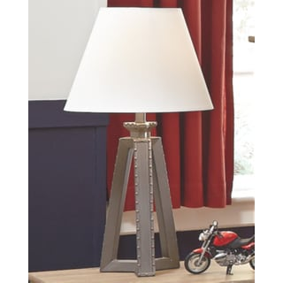Signature Designs by Ashley Sidony Metallic Grey Modern Poly Table Lamp