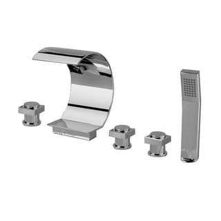 Sumerain Polished Chrome Waterfall Bathtub Faucet