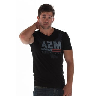 A2MUSA Men's 'Live Free' Graphic V-neck T-shirt