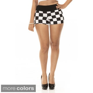 Women's Checkmate Micro Shorts