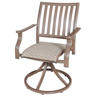 Panama Jack Island Breeze Swivel Rocking Dining Chair (Set of 2)