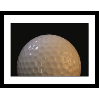 Joel Sartore 'Close view of the dimples on a golfball' Framed Photo