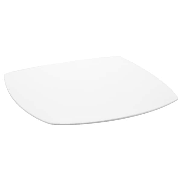 Red Vanilla Fare Square Dinner Plate (Set of 4)  sc 1 st  Overstock : white square dinner plate - Pezcame.Com