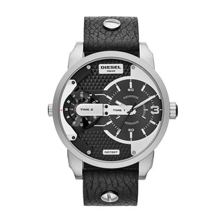 Diesel Men's DZ7307 Mini Daddy Chronograph Stainless Steel Leather Watch