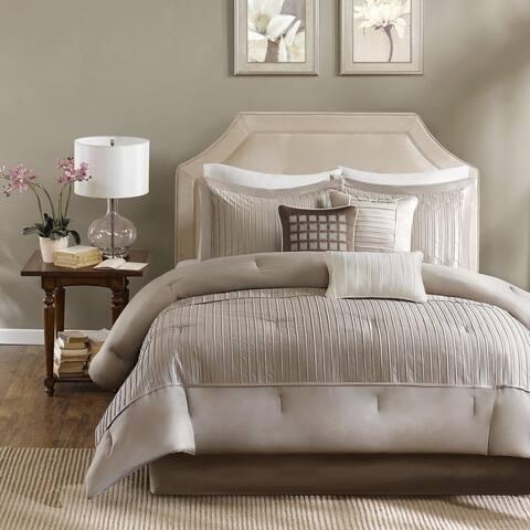 Madison Park Channing Taupe 7-piece Comforter Set