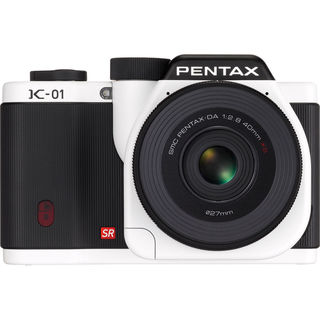 Pentax K-01 White Digital Camera Body with 40mm Lens