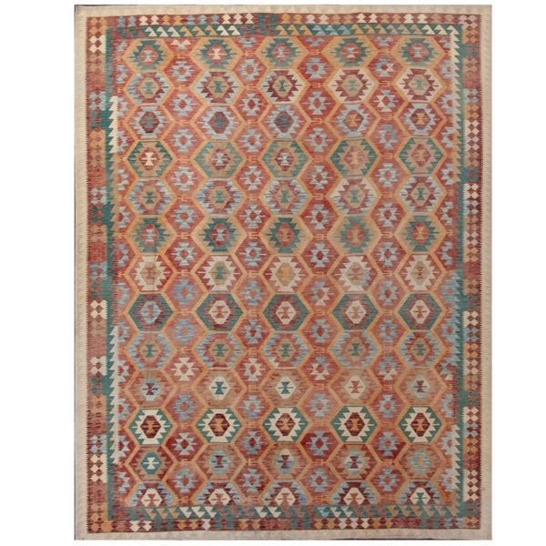 Shop Herat Oriental Afghan Hand-woven Tribal Kilim Rust