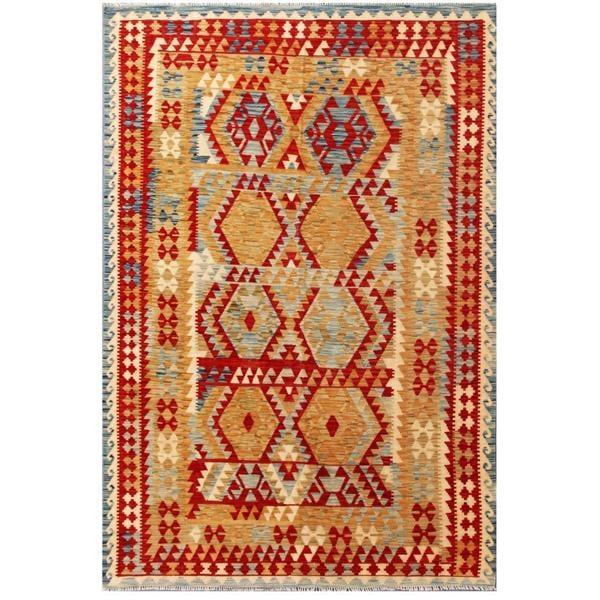 Herat Oriental Afghan Hand-woven Tribal Wool Kilim (6'6 x 9'11) - 6'6 x 9'11