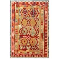 Handmade Herat Oriental Afghan Tribal Wool Kilim  - 6'6 x 9'11 (Afghanistan)