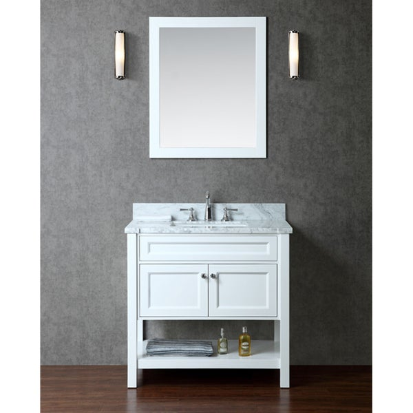 Mayfield 36 single sink bathroom vanity set free for Overstock com vanities
