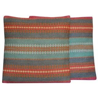 Handmade Kilim Throw Pillow, Set of 2 (India)