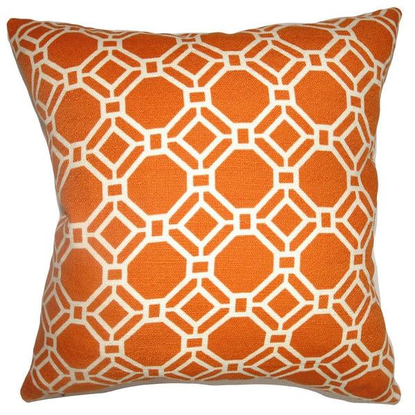 Cadena Chain Link Down Fill Clementine Throw Pillow