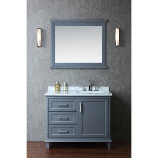 Shop Nantucket Inch Singlesink Bathroom Vanity Set Free - 42 gray bathroom vanity