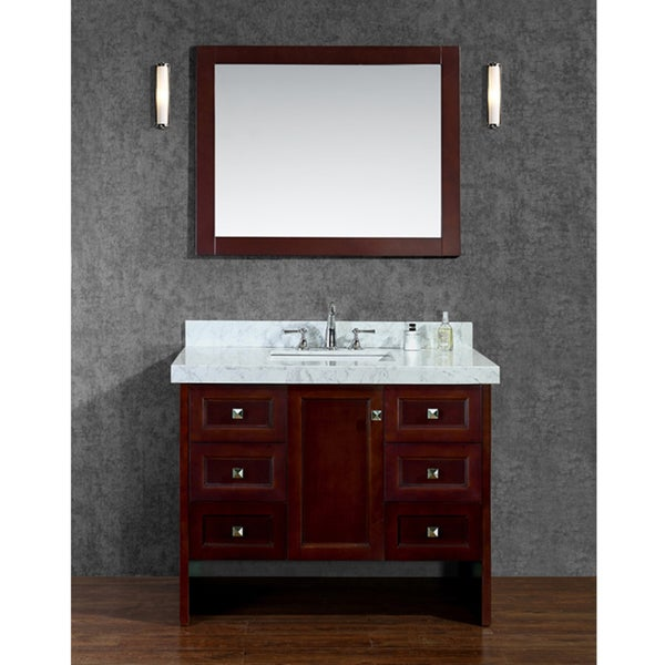 Shop beckonridge 42 single sink bathroom vanity set - Bathroom vanities nebraska furniture mart ...