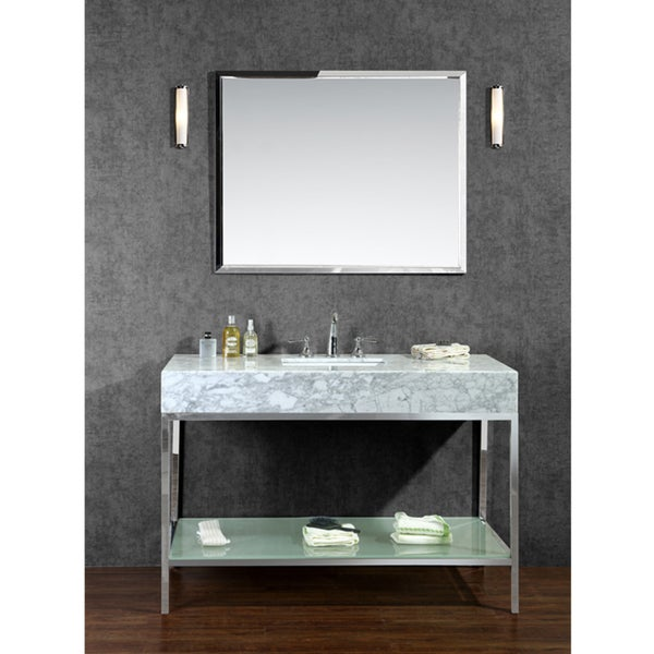 "Bathroom Vanities Overstock brightwater 48"" single-sink bathroom vanity set - free shipping"
