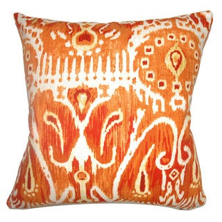 Haestingas Ikat Down Fill Pumpkin Throw Pillow