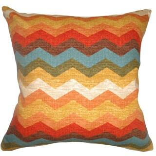 Gail Zigzag Down Fill Autumn Throw Pillow (20-Inch)
