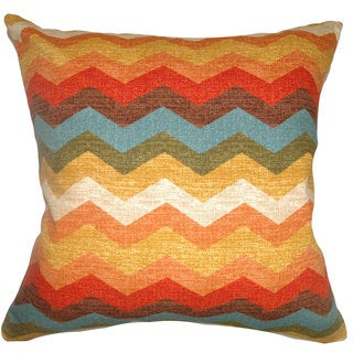 Gail Zigzag Down Fill Autumn Throw Pillow