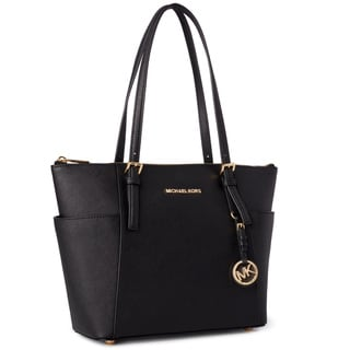 Link to Michael Kors Jet Set Medium Pocketed Top Zip Tote Bag Similar Items in Shop By Style