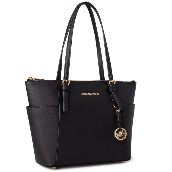 4d8d8d552f61 Shop Michael Kors Jet Set Medium Pocketed Top Zip Tote Bag - Free ...