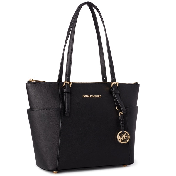 Michael Kors Tote Bag, Black, Leather, 2017, one size