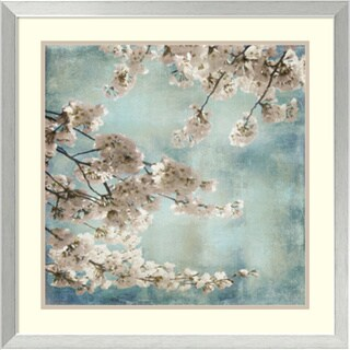 Framed Art Print 'Aqua Blossoms II' by John Seba 26 x 26-inch