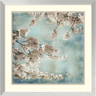 Framed Art Print 'Aqua Blossoms II' by John Seba 26 x 26-inch|https://ak1.ostkcdn.com/images/products/9167195/John-Seba-Aqua-Blossoms-II-Framed-Art-Print-26-x-26-inch-P16344552.jpg?impolicy=medium