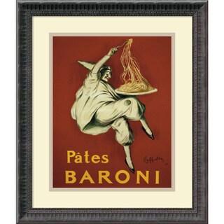 Framed Art Print 'Pates Baroni (ca. 1921)' by Leonetto Cappiello 17 x 20-inch