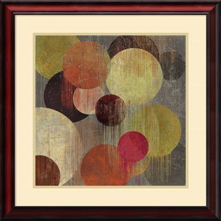 Framed Art Print 'Magenta Bubbles I' by Tom Reeves 26 x 26-inch