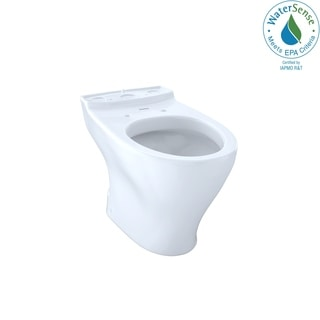 Toto Aquia Dual Flush Elongated Toilet Bowl with 10-inch Rough-In, Less Seat