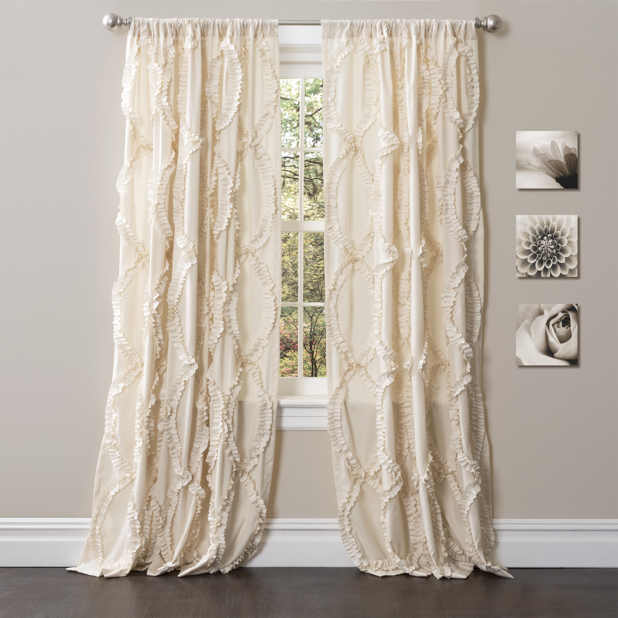 home window garden with ati medallion curtain product grommet top blackout overstock panel drapes pair
