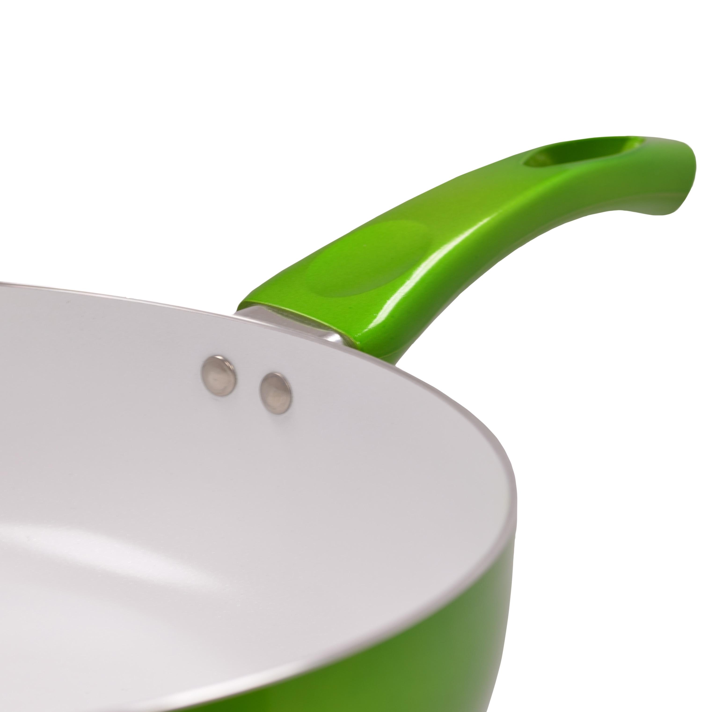 OEM Ceramic 9.5-inch Non-stick Fry Pan (Green) (Aluminum)
