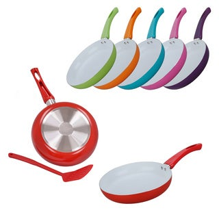 Ceramic 9.5-inch Fry Pan with Nylon Spatula