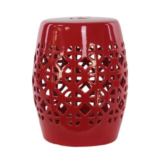 Shop Urban Trends Collection Red Ceramic Garden Stool