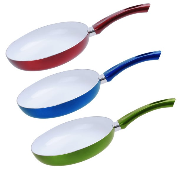 Ceramic non stick 8 inch fry pan free shipping on orders for Art cuisine cookware reviews