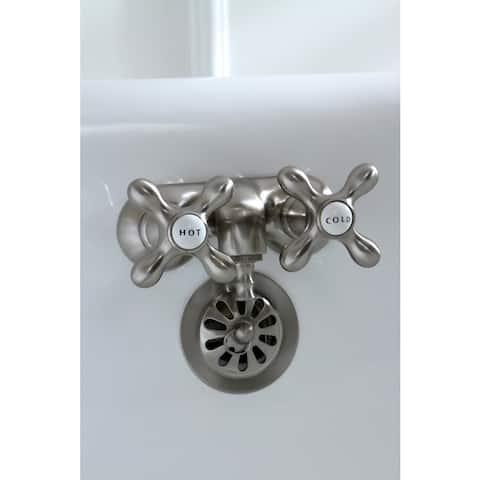 Classic Clawfoot Brushed Nickel Bathtub Faucet