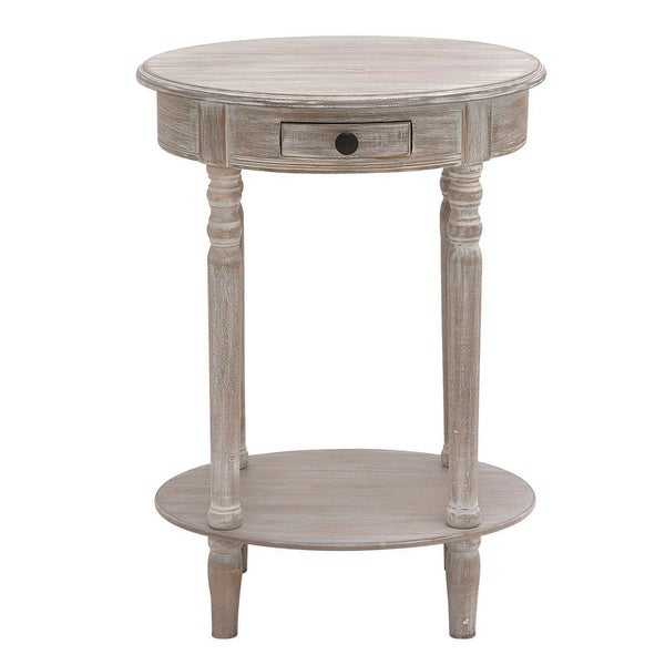 butler petite wood oval accent and end table - free shipping today