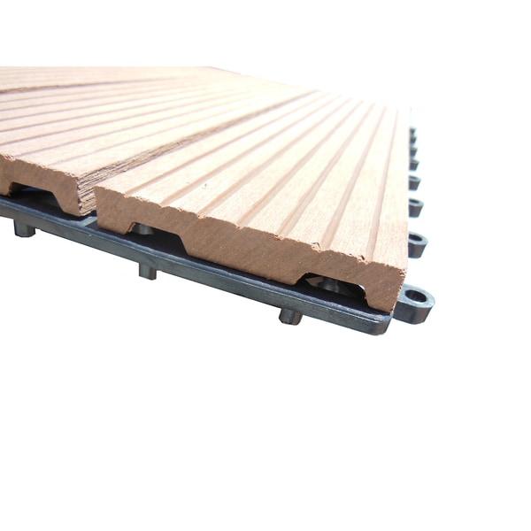 ... Century Outdoor Living 12x12 Composite Patio Interlocking DIY Deck Tiles  (Box Of 10) ...