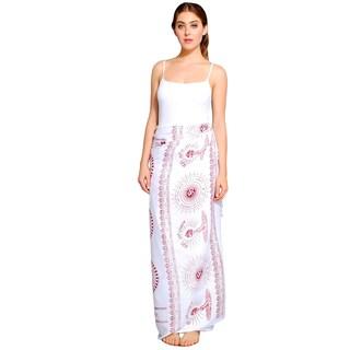 Handmade Women's Om Printed Sarong (India) (Option: White)