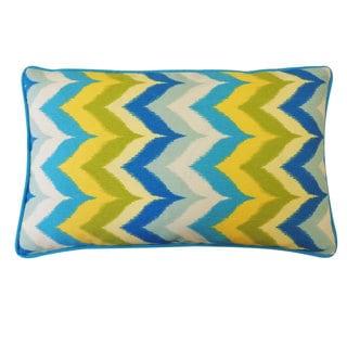 Dripping Paint Blue Throw Pillow