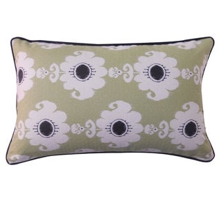 12 x 20-inch Rose Green Throw Pillow