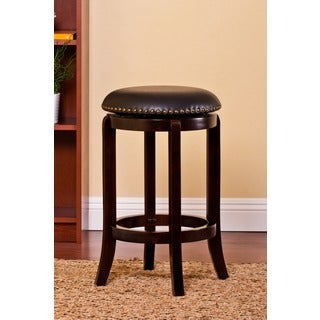 Plush Nailhead Rimmed Swivel Barstool