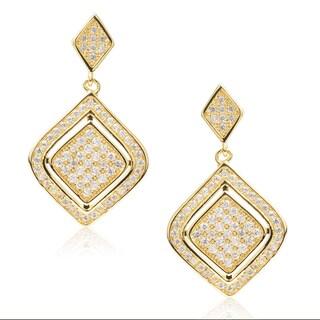 Journee Collection Goldtone Cubic Zirconia Dangle Earrings
