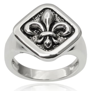 Journee Collection Brass Fleur-de-lis Ring