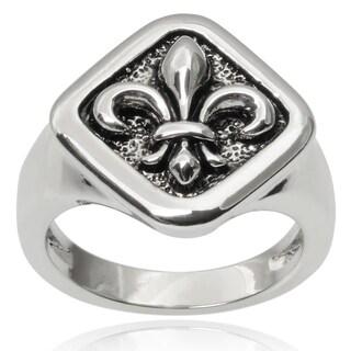 Journee Collection Brass Fleur-de-lis Ring